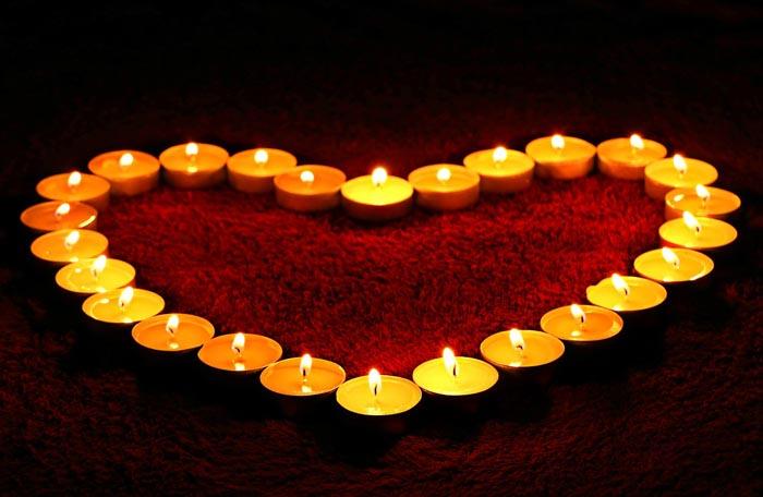 Color de vela para el amor