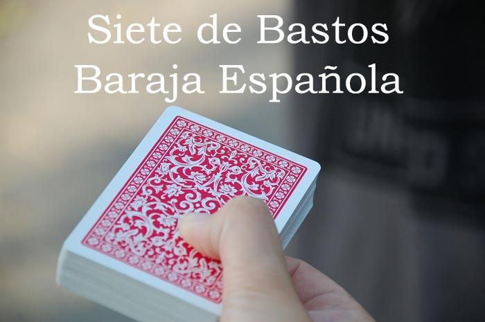 Siete de Bastos Baraja Española